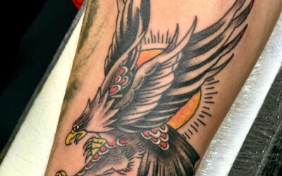 Old School Eagle Tattoo
